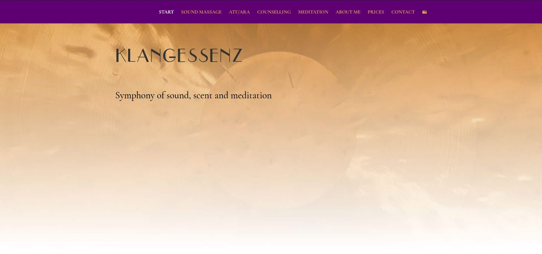 Klangessenz Webdesign WordPress Divi Theme